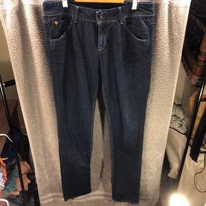 Hudson Collin Midrise Skinny Flap Jeans, size 30
